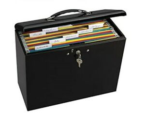 Portable File Cabinet Lock Storage Organizer Home Office Metal Box Mobile Drawer