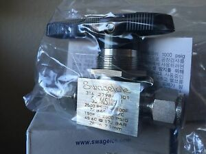 Swagelok Ss 44s10mm Ball Valve 2500 Psig Tube Fitting