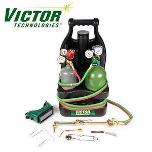 0384 0944 Victor Portable Tote Torch Kit Set Cutting Outfit With Cylinders