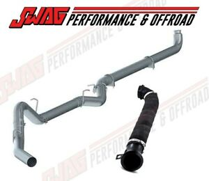 Mbrp Straight Piped Exhaust 3 Heat Wrapped Downpipe For 04 5 07 Duramax 6 6l