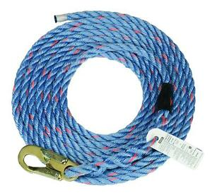Msa Safety 10096605 50 ft Rope Vertical Lifeline English french