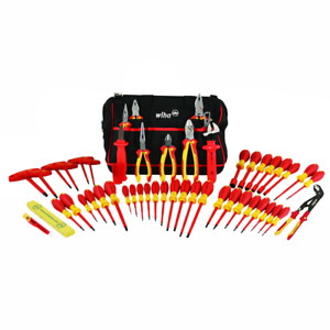 Wiha 32874 Insulated Tool Set With Pliers Cutters Nut Drivers Screwdrivers