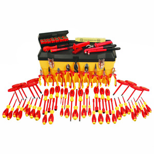 Wiha 32877 Insulated Set With Pliers Cutters Nut Drivers Screwdrivers