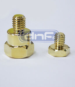 Gm Gmc Gold Plated Short Side Post Mount Battery Terminal Adapter Untended Bolt