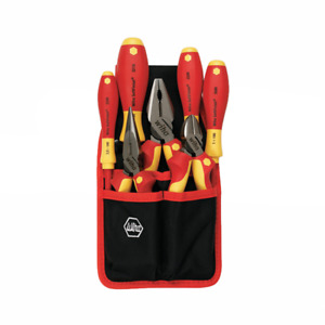 Wiha 32985 Insulated Industrial Pliers drivers Set Belt Pack Pouch 7 piece