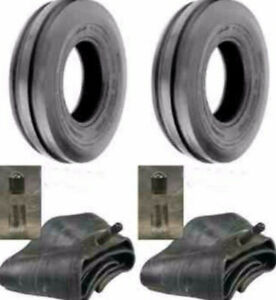 Two New 4 00 12 Deestone D401 3 rib Cub Cadet Easy Steer Tractor Tires W tubes