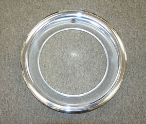 Rallye Wheel Trim Ring 15 X 6 1 2 Inch Polished Stainless Steel