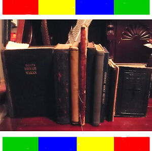 12 000 Collection 11 Antique Native American Indian Holy Bibles