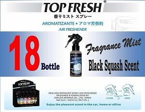 18 Btl Spray Treefrog Top Fresh Fragrance Mist Air Freshener black Squash Scent