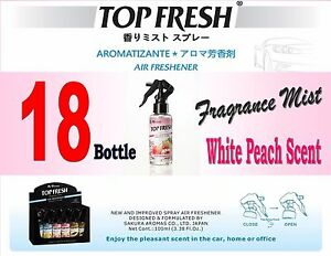 18 Btl Spray Treefrog Top Fresh Fragrance Mist Air Freshener White Peach Scent