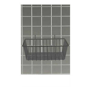 Black Powder Coat Finish Mini Grid Basket 12 l X 12 w X 4 d