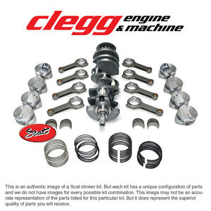 Chevy 396 To 434 Scat Stroker Kit Balanced W Forged Dome Pistons H Beam Rods