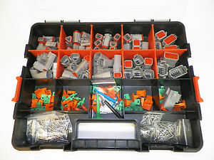 504 Pc Gray Deutsch Dt Connector Kit Solid Terminals Removal Tools