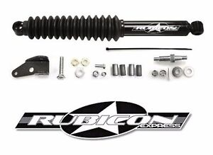Rubicon Express Steering Stabilizer Relocation Kit For 07 18 Jeep Wrangler Jk