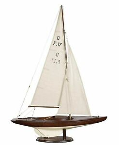 Dragon Olympic Racer Sailboat 30 Built Wooden Authentic Model Yacht Assembled