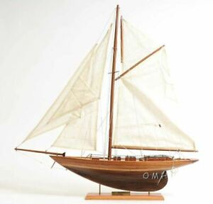 Eric Tabarly S Pen Duick Sailboat 24 Built Wooden Model Yacht Assembled