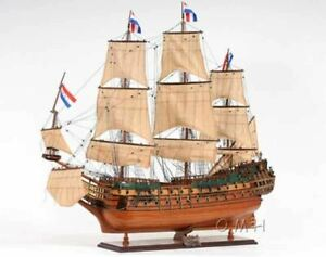 Holland Frigate Friesland Tall Ship 37 Built Wooden Model Sailboat Assembled