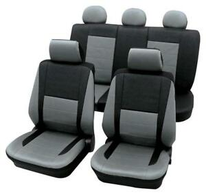 Leather Look Grey Black Car Seat Covers For Mazda 3 2006 Onwards