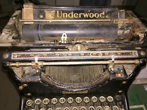 No 5 Underwood Typewriter