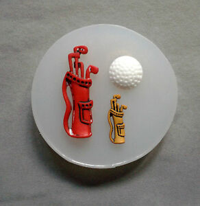 Golf Bag Clubs Ball Silicone Mould MoldSugarcraftCake Decorating polymer clay