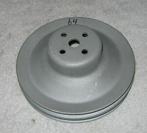 1963 1964 Cadillac 390 Water Pump Pulley 2 Groove Non A C Sandblasted 63 64