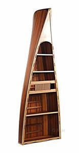 Canoe Book Shelf 90 Built 5 Shelves Wooden Bookcase Assembled