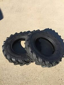 Two 4x8 400 8 4 00x8 John Deere Gravely Lug Climb Hills Tubeless Tractor Tires