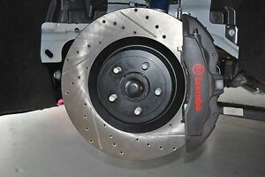 15 17 Mustang Gt With Brembo Front Stoptech Cross Drilled Slotted Brake Rotors