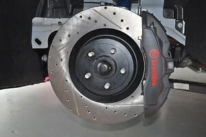 15 19 Mustang Gt With Brembo Front Stoptech Cross Drilled Slotted Brake Rotors