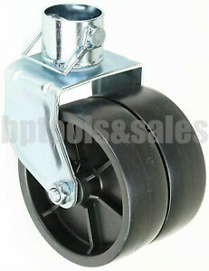 2000lbs 6 Dual Trailer Jack Wheel Caster Fits Any Jack Better Soft Ground Roll