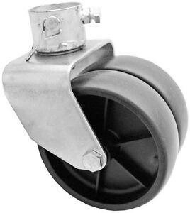 2 000lbs 6 Dual Trailer Jack Wheel Caster Fits Any Jack Better Soft Ground Roll