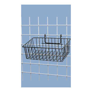 Box Of 3 Black Powder Coat Finish Mini grid Basket 12 l X 8 w X 4 d