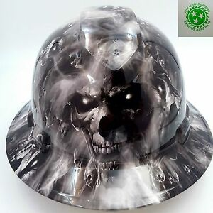 Hard Hat Custom Hydro Dipped Osha Approved Full Brim hell Have No Mercy Hades