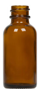 Amber Glass Boston Round Bottle Case Pack 1 Oz
