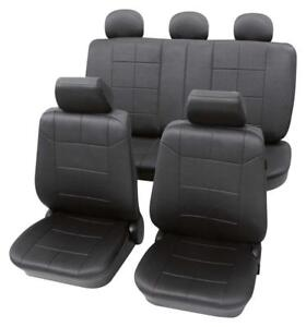 Luxury Leather Look Dark Grey Washable Seat Covers For Mazda 3 2006 Onwards