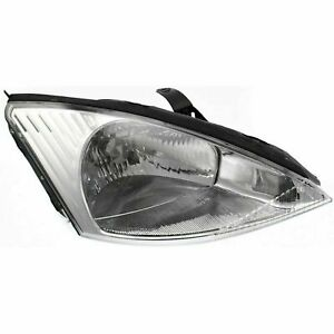 Fits For 2000 2001 2002 Ford Focus Headlight Right W Chrome 3s4z 13008 Cc