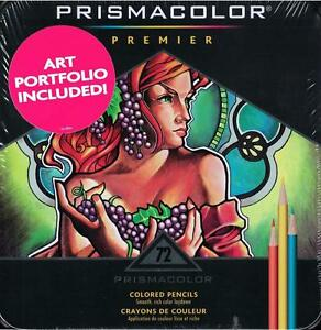 Prismacolor Premier Colored Pencils Metal Tin 72 Color Set W Art Portfolio