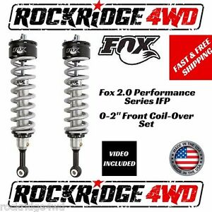Fox 2 0 Performance Ifp 0 2 Front Coil Overs 2015 2016 Chevy Colorado Canyon