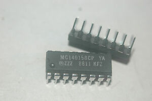Motorola Mc14015bcp 16 pin Dip Shift Register Dual 4 bit Serial Ic Quantity 10