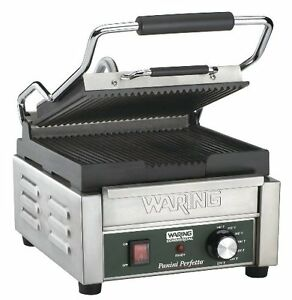 Commercial Panini Grill Compact Sandwich Griddle Gourmet Electric Kitchen Non