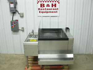 40 X 32 Stainless Steel Bar Island Ice Well Bin 8 Circuit Cold Plate Hand Sink