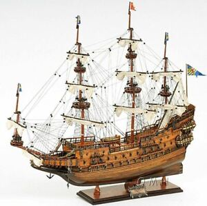 Vasa 1628 Wasa Swedish Tall Ship 38 Built Wooden Model Boat Assembled