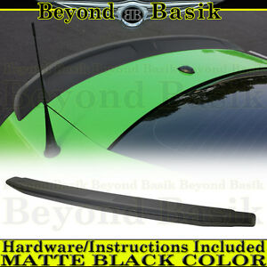 2010 2014 Ford Mustang Matte Black Oem Factory Style Spoiler Lip Wing Fin