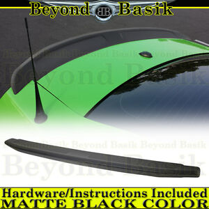 2010 2014 Ford Mustang Matte Black Factory Style Spoiler Lip Wing Fin