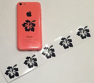 6x Hibiscus Flower Car Window Vinyl Decal Sticker Cell Phone Ipod Laptop