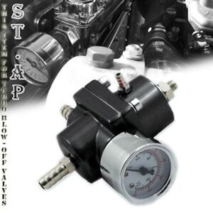 Jdm Universal Adjustable 1 To 140 Psi Fuel Pressure Regulator With Gauge Black