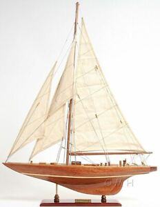 Enterprise 1930 America S Cup J Yacht 25 Built Wooden Model Boat Assembled