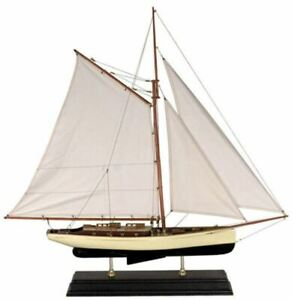 1930 Large Classic Yacht 35 Built Wooden Model Sailboat Assembled