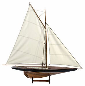 1901 Sailboat Pond Cup Contender 43 Built Wooden Model Assembled