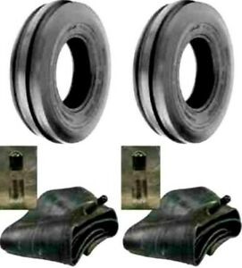 Two 400x8 4 00 8 Front 3 Rib Garden Cub Cadet Front Tractor Tires W tubes